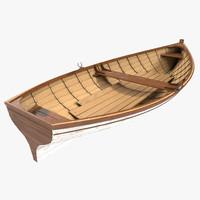 3d model rowboat 2