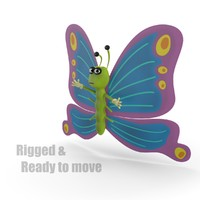 Cartoon Butterfly - RIGGED