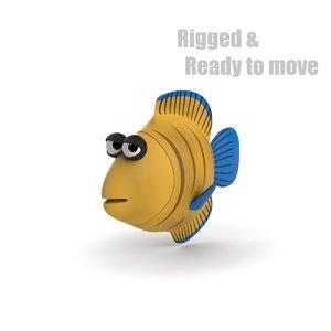 cartoon fish rigged 3d max