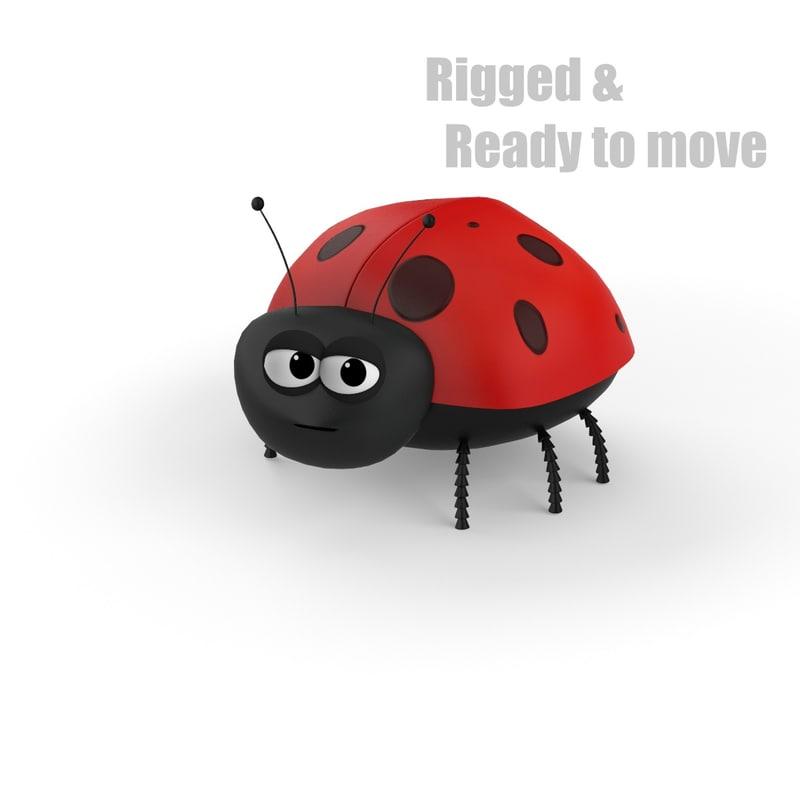 cartoon ladybug rigged max