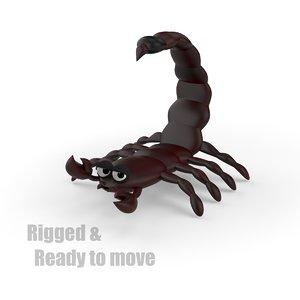 3d cartoon scorpion rigged