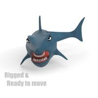 Cartoon Shark - RIGGED