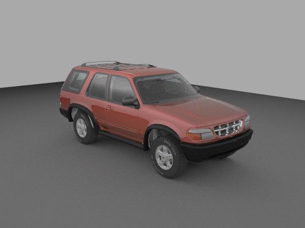 3d 2001 explorer interior engine