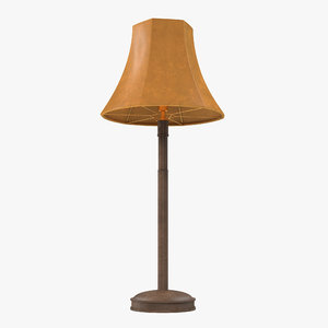 table lamp modeled 3ds