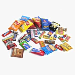 snacks 3d max