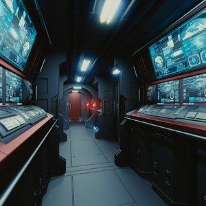 3dsmax interior spaceship space station