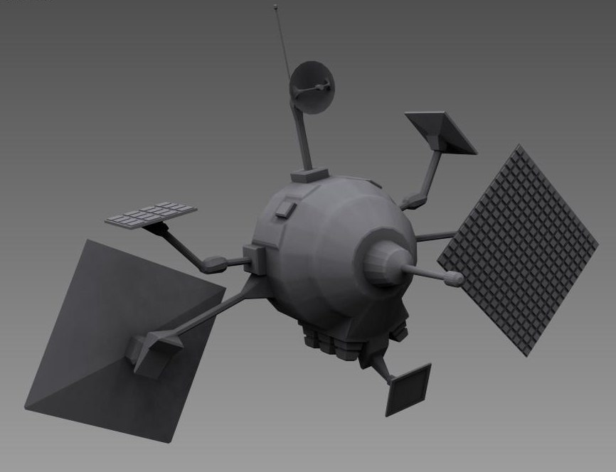 space satellite spacecraft 3ds