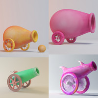 3d cartoon cannon toon