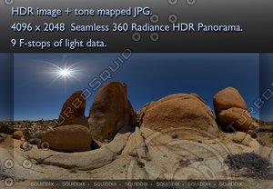 JOSHUA TREE ROCK FORMATIONS , 360 PANORAMA #074