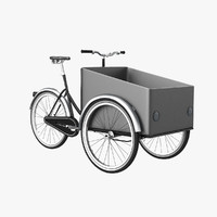 cargo bike 3d 3ds