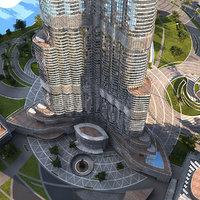 3d obj burj khalifa skyscraper