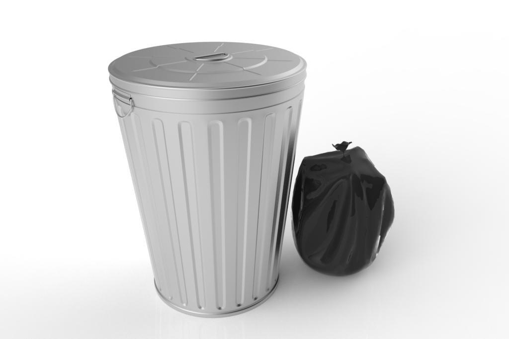 obj trash garbage bag
