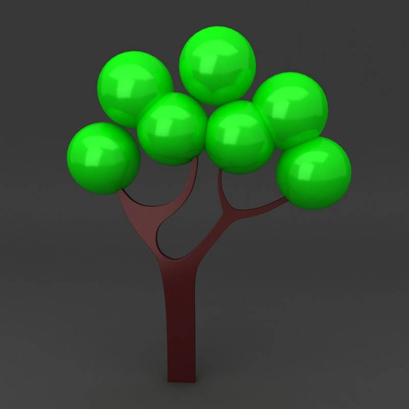 3ds max cartoon tree