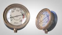 3d steampunk gauge