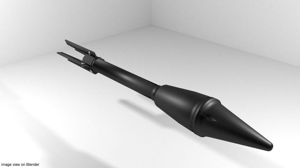 rocket launcher m7a1 3d 3ds