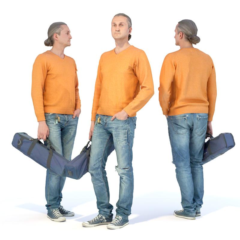 guy yoga mat 3d model