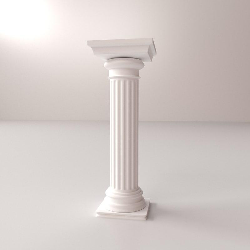 greek column doric 3d 3ds