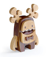 wooden toy moose 3d max