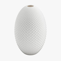 max diamond cut egg vase