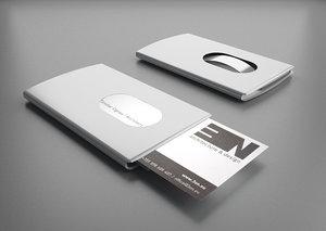 3d model of card holder troika