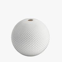 3d diamond cut globe vase model
