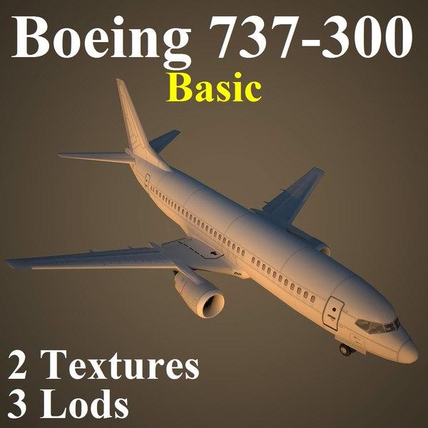 3d boeing basic airliner model