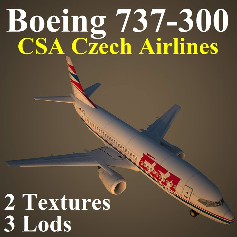 boeing csa airlines 3d model