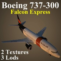 3d boeing fao airliner model