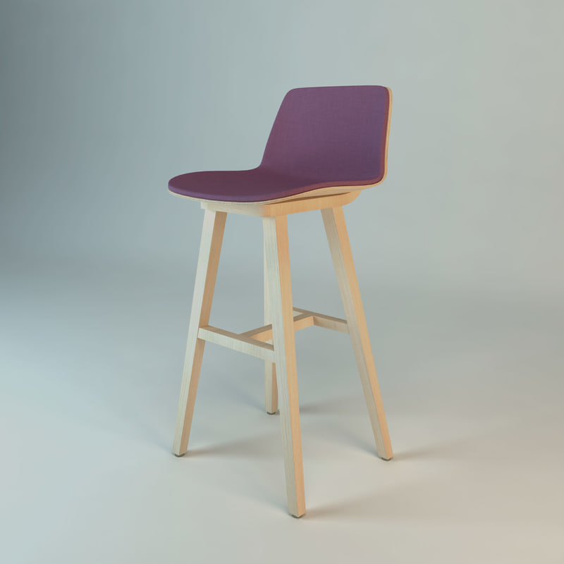 kuskoa bar stool alki 3d model