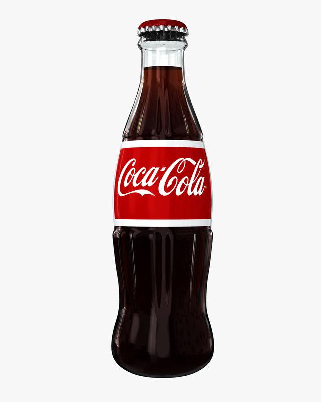 Original Coca Cola Bottles 3ds max coca cola bott...