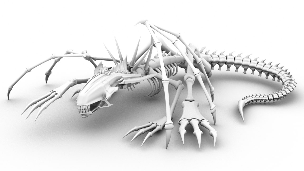 3d model bone dragon