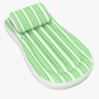 3d c4d inflatable air mattress 4