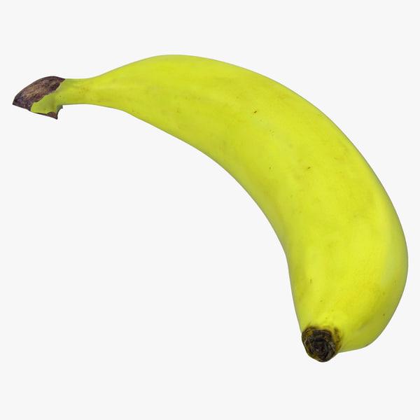 green banana modeled 3ds