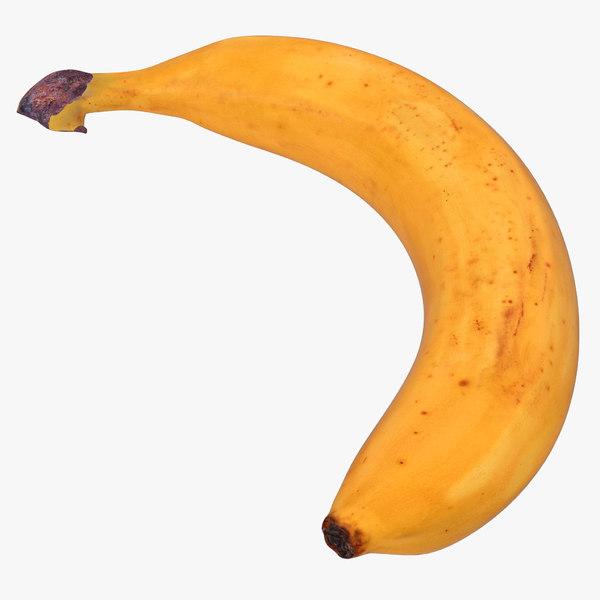 3d model banana 3 modeled