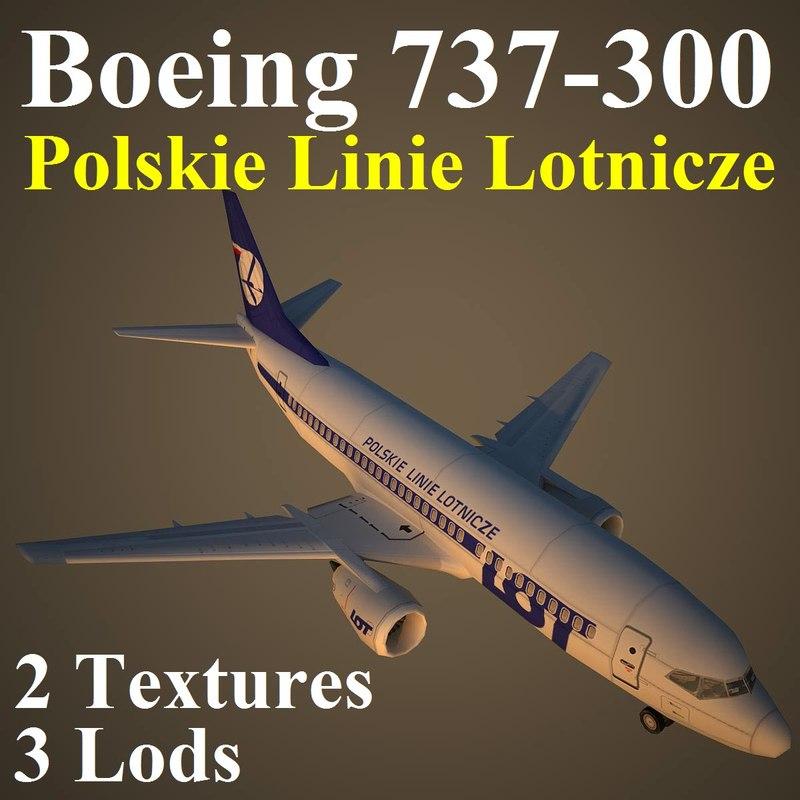 3d boeing lot model