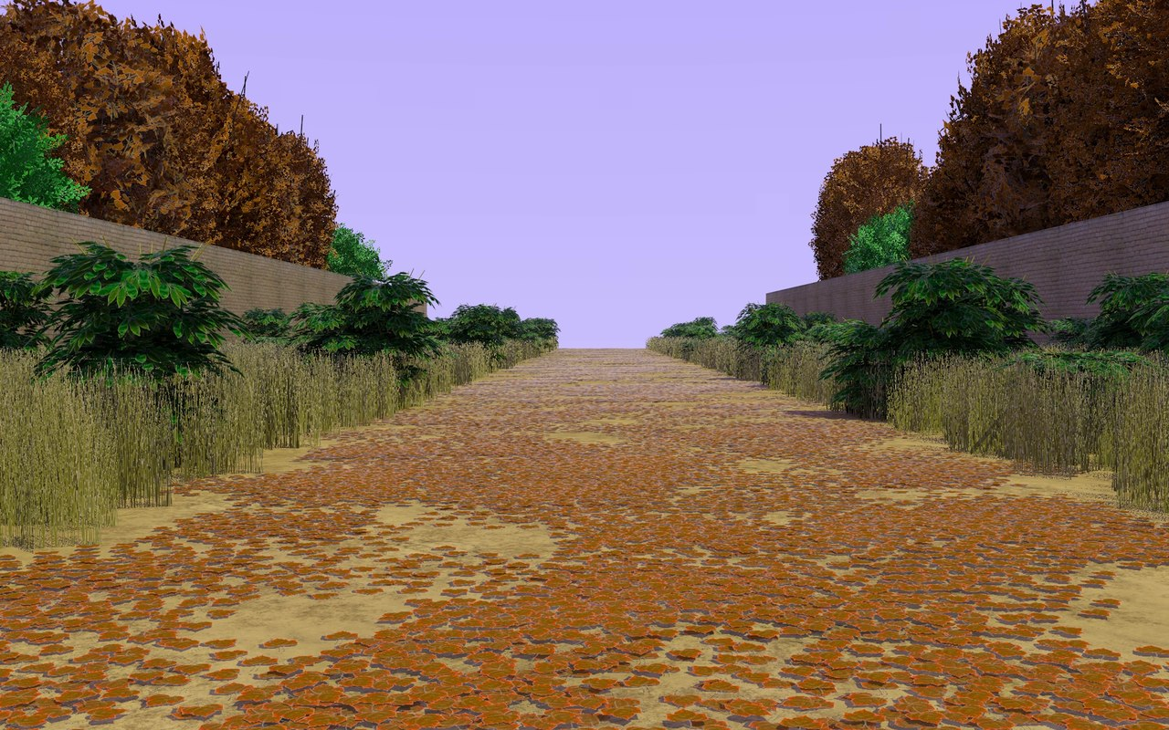 3dsmax autumn country path