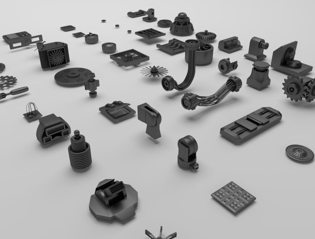technical parts 3d model