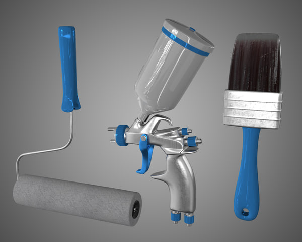 3d model paint tools brush pulvelizatora