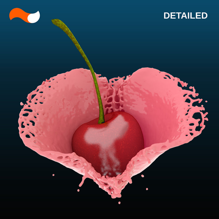 3d 3ds liquid heart splash