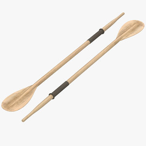 wooden paddle 3d max
