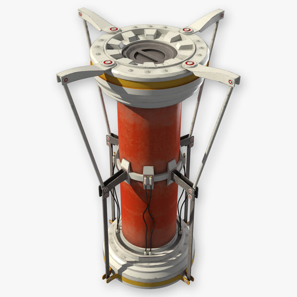 3d model of futuristic sci fi biohazard