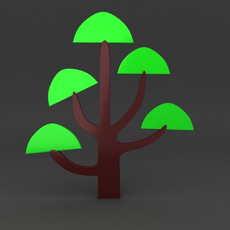 cartoon tree x