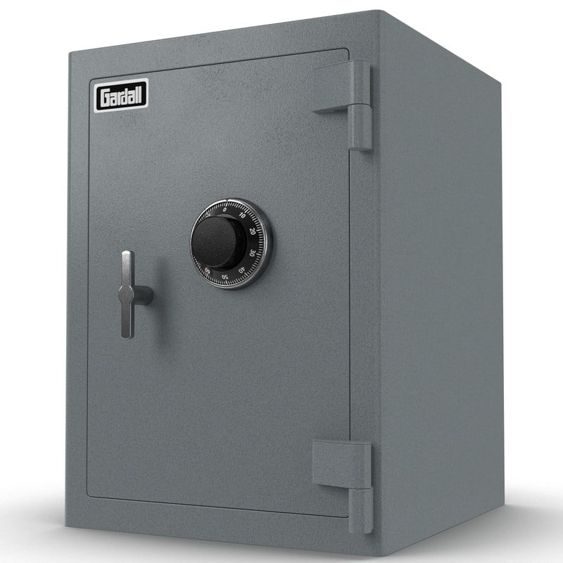 safe gardall modeled 3d max