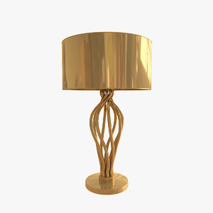 versace vanitas swirl table lamp 3d model
