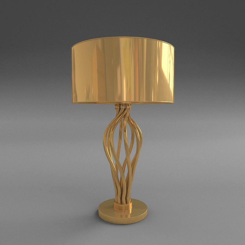 versace vanitas swirl table lamp 3d model