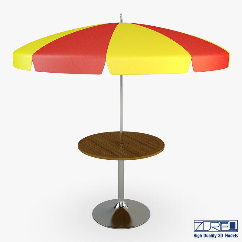 3dsmax patio table umbrella v