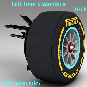 suspension mercedes w06 3d model