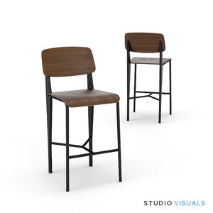 prouve bar stool 3d model