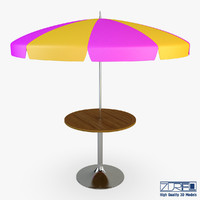 3d patio table umbrella v model