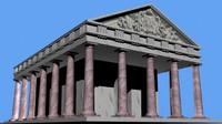 3d roman doric temple